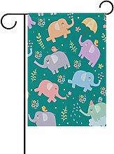 LIANCHENYI Elefanten mit Vögeln Muster