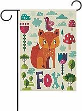 LIANCHENYI Fox mit Pilz doppelseitig Familie