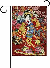 LIANCHENYI Japanische Geisha Girl mit Blumen