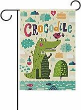 LIANCHENYI Krokodil mit Vogel doppelseitig Familie