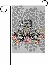 LIANCHENYI Leopard mit Blumen doppelseitig Familie