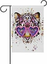 LIANCHENYI Leopard mit Splash Watercolor Textur
