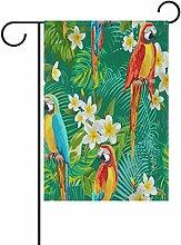 LIANCHENYI Papageien mit Weiß Blumen doppelseitig