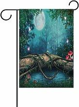 LIANCHENYI Pilz mit Galaxy Schmetterlinge im Wald