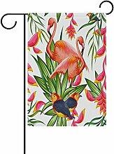 LIANCHENYI Pink Flamingo mit Papageien Vogel