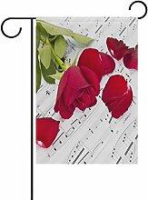 LIANCHENYI Rosenblätter mit Musik Note