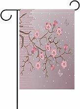 LIANCHENYI Sakura mit Schmetterlinge doppelseitig