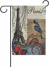 LIANCHENYI Vogel mit Paris Eiffelturm doppelseitig