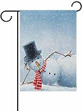 LIANCHENYI Weihnachtsflagge mit Schneemann,