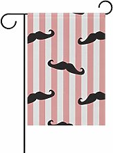 LIANCHENYI weiß und rosa Streifen mit Schnurrbart