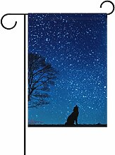 LIANCHENYI Wolf mit Sternenhimmel doppelseitig