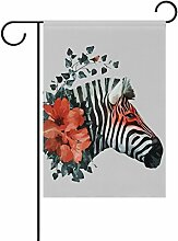 LIANCHENYI Zebra mit Blume doppelseitig Familie