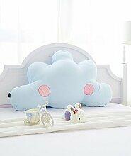 LIANJUN Alle Cotton Cloud Cuddly Support Bedside Kissen Bett Kopf Kissen-Twin Size / Full Size / Queen Größe Bettwäsche Zubehör ( Farbe : Blau , größe : 120*10*80cm )