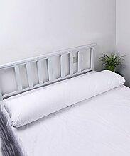 LIANJUN Baumwoll-Multifunktions-Stützkissen Nachttischkissen Liege Kissen Bett / Auto / Büro / Lesung / Lendenwirbel Rückenpolster Bettwäsche Zubehör ( Farbe : Weiß )