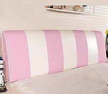 LIANJUN Color Matching Support Bedside Kissen Bett Kopf Kissen Soft Bag Lesung Rückenlehne Kopfteil Kissen-Allgemein (6 Größen) Bettwäsche Zubehör ( Farbe : Pink , größe : 150*12*58cm )