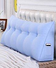 LIANJUN Dreieckstütze Bedside Kissen Single Double Bedside Pad Weiche Tasche Kissen Lesung Bett Büro Rückenlehne Removable-Cotton Canvas Bettwäsche Zubehör ( Farbe : 1* , größe : 180*20*50cm )