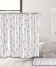 LIANJUN Duschvorhang Einfache Badezimmer Duschvorhang Wasserdicht und mildewproof undurchlässig mit Haken Anti - statischer Duschvorhang ( größe : 240*180CM )