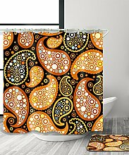 LIANJUN Duschvorhang Geometrisch Mysterious Creative 3D Druck Duschvorhang Wasserdichter Mouldproof Bad Vorhang mit Haken (11 Größen) Anti - statischer Duschvorhang ( größe : 120*200CM )