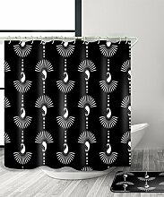 LIANJUN Duschvorhang Geometrischer kreativer 3D-Druck-Duschvorhang Wasserdichter mouldproof Badezimmer-Vorhang mit Haken (11 Größen) Anti - statischer Duschvorhang ( Farbe : A , größe : 150*200CM )