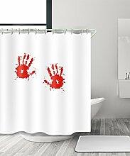 LIANJUN Duschvorhang Geschenk Halloween Gotisch Blutbad Duschvorhang, Wasserdicht Mouldproof Mit Haken Anti - statischer Duschvorhang ( Farbe : C , größe : 180*240CM )