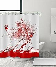 LIANJUN Duschvorhang Geschenk Halloween Gotisch Blutbad Duschvorhang, Wasserdicht Mouldproof Mit Haken Anti - statischer Duschvorhang ( Farbe : A , größe : 120*200CM )