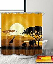 LIANJUN Duschvorhang Mysteriöse indische Kultur Tribal Chic 3D Druck Duschvorhang Wasserdicht Mouldproof Bad Vorhang mit Haken (11 Größen) Anti - statischer Duschvorhang ( Farbe : C , größe : 240*180CM )