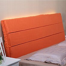 LIANJUN Einfache Stoff Bedside Kissen Pure / Einfache Unterstützung Bett Kopf Kissen Single Doppelbett Nachttisch Soft Bag Pad Großes Bett Kissen Bett Rückenlehne Lesung Abnehmbare Bettwäsche Zubehör ( Farbe : E , größe : 180*4*58CM )