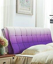 LIANJUN Farbe Gradient Corduroy Support Bedside Kissen Bett Kopf Kissen Soft Bag Lesung Rückenlehne Kopfteil Kissen-General (6 Größen) Bettwäsche Zubehör ( Farbe : 3* , größe : 120*12*58cm )