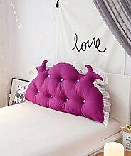 LIANJUN gebürstet pur Bedside-Stützkissen Bed Head Pillow Leseständer abnehmbares Buttons - Twin Size / Full Size / Queen-Size / king Size Bettwäsche Zubehör ( Farbe : 4* , größe : 120*15*65cm )