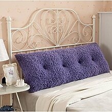 LIANJUN Multi-Funktions-Soft-Bedside-Kissen Doppelseitiges Design Reines / einfaches Bett-Stützkissen-Bett-Kopf-Kissen Einzelnes doppeltes Bett-Bett-weicher Beutel Großes Bett-Kissen-Bett-Rückenlehne, die mit weicher Abdeckung abnehmbar ist Bettwäsche Zubehör ( Farbe : E , größe : 150*25*60CM )