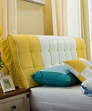 LIANJUN PU S-förmige Unterstützung Bedside Kissen Bett Kopf Kissen Soft Bag Lesung Rückenlehne Kopfteil Kissen-Allgemein (6 Größen) Bettwäsche Zubehör ( Farbe : 3* , größe : 190*12*58cm )