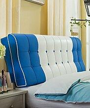 LIANJUN PU S-förmige Unterstützung Bedside Kissen Bett Kopf Kissen Soft Bag Lesung Rückenlehne Kopfteil Kissen-Allgemein (6 Größen) Bettwäsche Zubehör ( Farbe : 2* , größe : 160*12*58cm )
