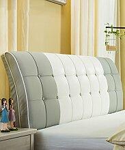 LIANJUN PU Unterstützung Bedside Kissen Bett Kopf Kissen Soft Bag Lesung Rückenlehne Kopfteil Kissen-Allgemein (6 Größen) Bettwäsche Zubehör ( Farbe : 2* , größe : 150*8*63cm )
