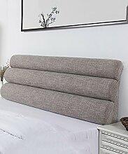 LIANJUN Pure Color Flachs Support Bedside Kissen Schwamm Großes Bett Kopf Kissen Lesung Rückenlehne Abnehmbare-Twin Size / Full Size / Queen Size Bettwäsche Zubehör ( Farbe : 3* , größe : A-153*56cm )