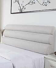 LIANJUN Pure Color Flachs Support Bedside Kissen Schwamm Großes Bett Kopf Kissen Lesung Rückenlehne Abnehmbare-Twin Size / Full Size / Queen Size Bettwäsche Zubehör ( Farbe : 1* , größe : B-203*56cm )