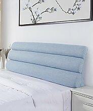 LIANJUN Pure Color Flachs Support Bedside Kissen Schwamm Großes Bett Kopf Kissen Lesung Rückenlehne Abnehmbare-Twin Size / Full Size / Queen Size Bettwäsche Zubehör ( Farbe : 2* , größe : A-203*56cm )