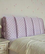 LIANJUN Seide Tuch Abnehmbare Unterstützung Bedside Kissen Lesung Rückenlehne-Kopfteil-Baby Bett / Twin / Full / Queen / King Größe Bettwäsche Zubehör ( Farbe : #4 , größe : 125*6*60cm )