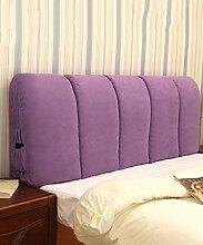 LIANJUN Wildleder weiche abnehmbare Unterstützung Bedside Kissen Lesung Rückenlehne-Kopfteil-Baby Bett / Twin / Full / Queen / King Größe Bettwäsche Zubehör ( Farbe : #3 , größe : 165*6*60cm )