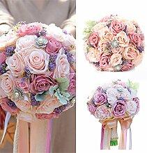 LianLe Blumenstrauß Künstliche Seide mit Rosen