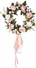 LianLe Dekoration Kranz Künstlich Rose Blumen