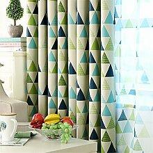 LianLe Vorhang Gardine Geometrie Dreieck Muster