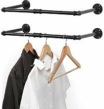 Liantral Wand-Kleiderständer, 60 cm, Set mit 2