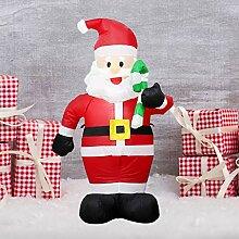 liaobeiotry Aufblasbarer Weihnachtsmann Requisiten