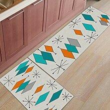 Libaoge Küchenteppich mit geometrischem Muster,