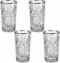 Libbey - Hobstar - Longdrinkglas, Wasserglas,