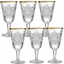 Libbey Hobstar - Weinglas, Rotweinglas,