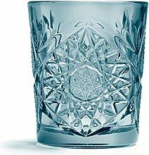 Libbey - Hobstar - Whiskyglas, Glas - Farbe: Blau
