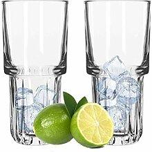 Libbey Longdrink Gläser 12er Set stapelbar 355 ml
