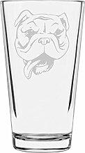 Libbey Pint-Glas mit Bulldoggen-Motiv, 473 ml