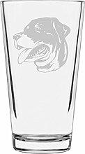 Libbey Pint-Glas mit Rottweiler-Motiv, 473 ml